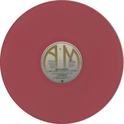 Peter Frampton Frampton Comes Alive - Pink Vinyl 2-LP vinyl record set (Double Album) UK PFR2LFR344976