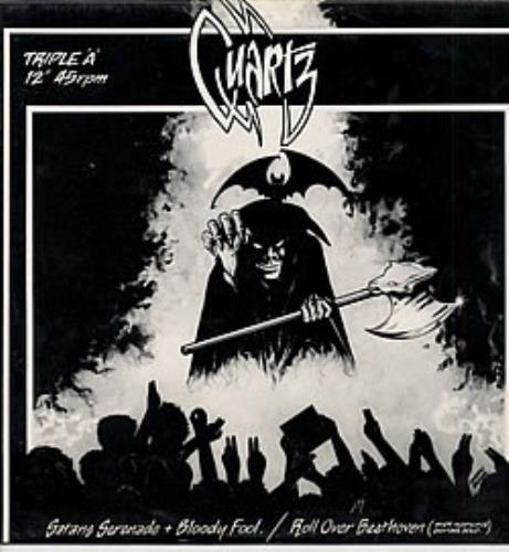 """Quartz Satan's Serenade - blue vinyl 12"""" vinyl single (12 inch record / Maxi-single) UK QTZ12SA189426"""