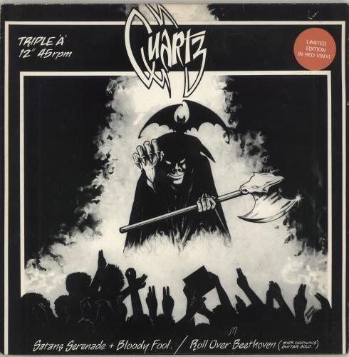 "Quartz Satan's Serenade - Red vinyl - Hype Stickered 12"" vinyl single (12 inch record / Maxi-single) UK QTZ12SA01163"