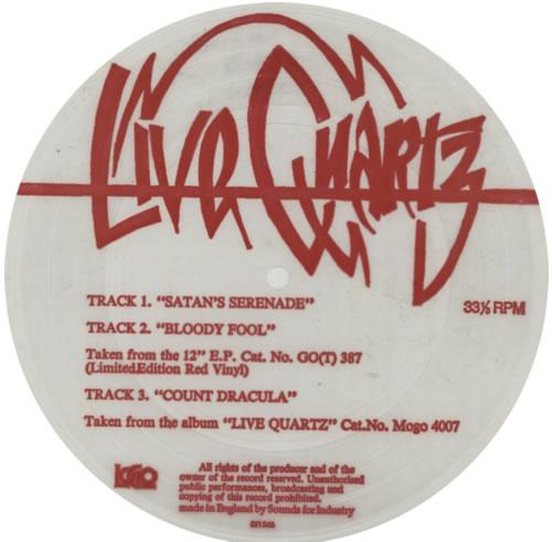 """Quartz Satan's Serenade 7"""" vinyl single (7 inch record) UK QTZ07SA591468"""