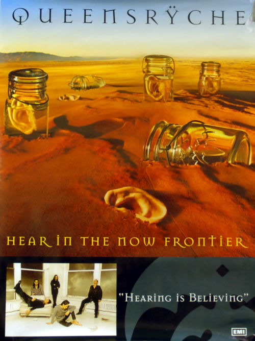 Queensryche Hear In The Now Frontier poster UK QRYPOHE614726