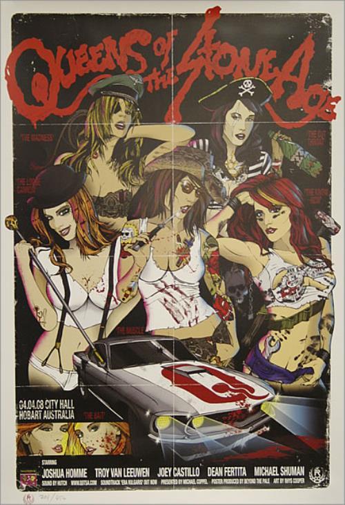 queens of the stone age australian tour poster hobart poster australian qospoau435181