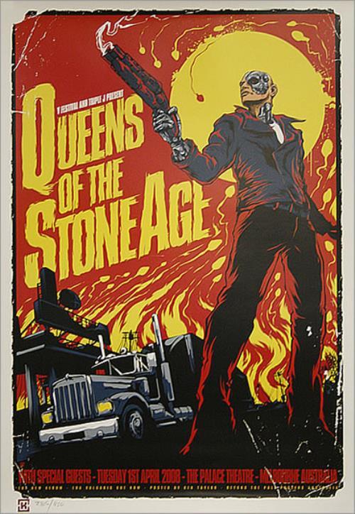 queens of the stone age australian tour poster melbourne poster australian qospoau435183