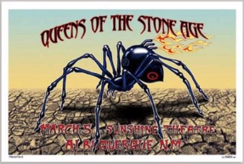 queens of the stone age tour poster poster us qospoto373159