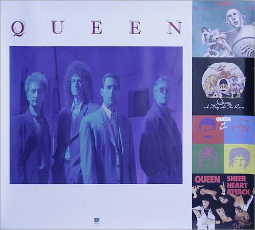 Queen 1991 Reissue Campaign poster US QUEPORE537867