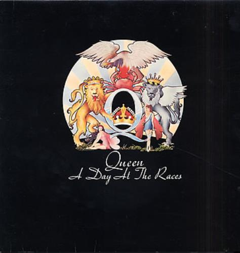 Queen A Day At The Races - Barcoded sleeve vinyl LP album (LP record) UK QUELPAD224745