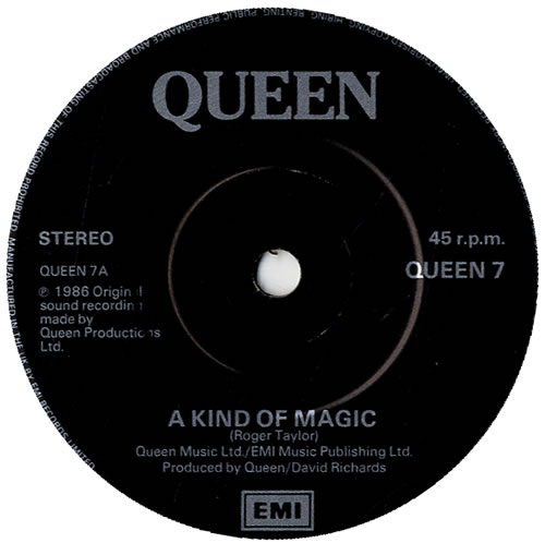 Queen A Kind Of Magic Sleeve Uk 7 Quot Vinyl Single 7 Inch