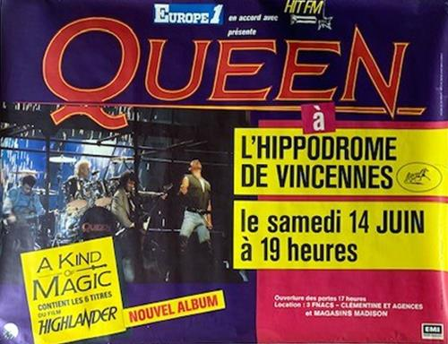 Queen A Kind Of Magic Tour Poster poster French QUEPOAK367008