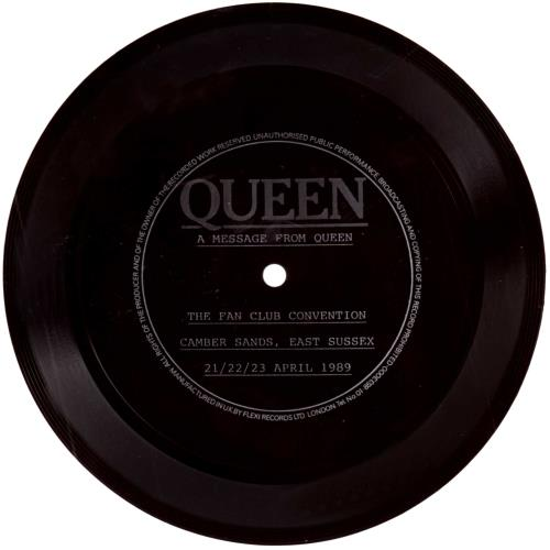 "Queen A Message From Queen 7"" vinyl single (7 inch record) UK QUE07AM218815"