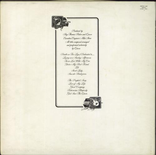 Queen A Night At The Opera - 1st - EX vinyl LP album (LP record) UK QUELPAN355665