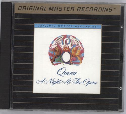 Queen A Night At The Opera - Gold CD album (CDLP) US QUECDAN344683