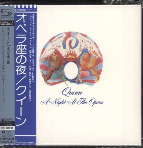 Queen A Night At The Opera SHM CD Japanese QUEHMAN748512