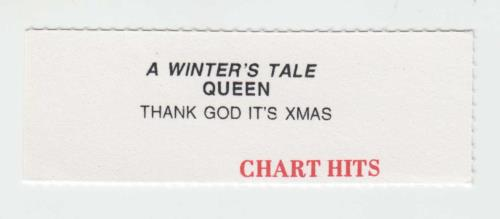 "Queen A Winter's Tale - Jukebox + Tag 7"" vinyl single (7 inch record) UK QUE07AW703227"