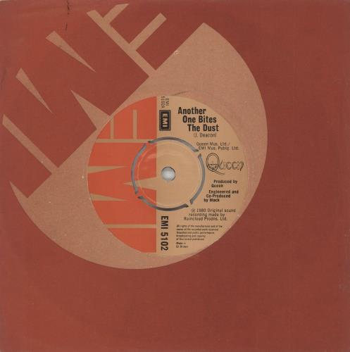 """Queen Another One Bites The Dust - 4pr 7"""" vinyl single (7 inch record) UK QUE07AN559366"""