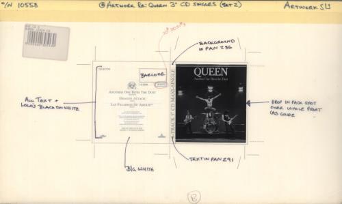 Queen Another One Bites The Dust artwork UK QUEARAN719175