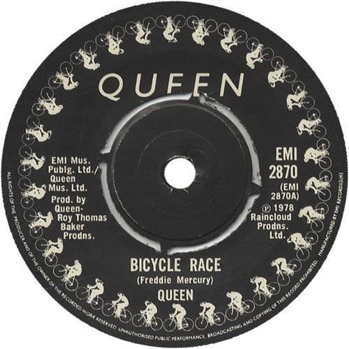 """Queen Bicycle Race + Sleeve 7"""" vinyl single (7 inch record) UK QUE07BI07359"""