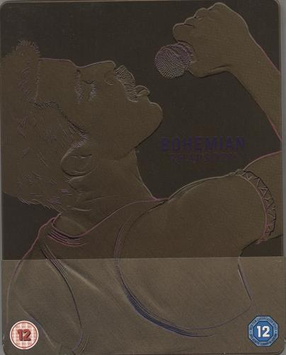 Queen Bohemian Rhapsody + Steelbook + Slipcase Blu Ray DVD UK QUEBRBO765750
