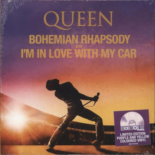 "Queen Bohemian Rhapsody - RSD19 - Coloured Vinyl - Sealed 7"" vinyl single (7 inch record) UK QUE07BO718411"