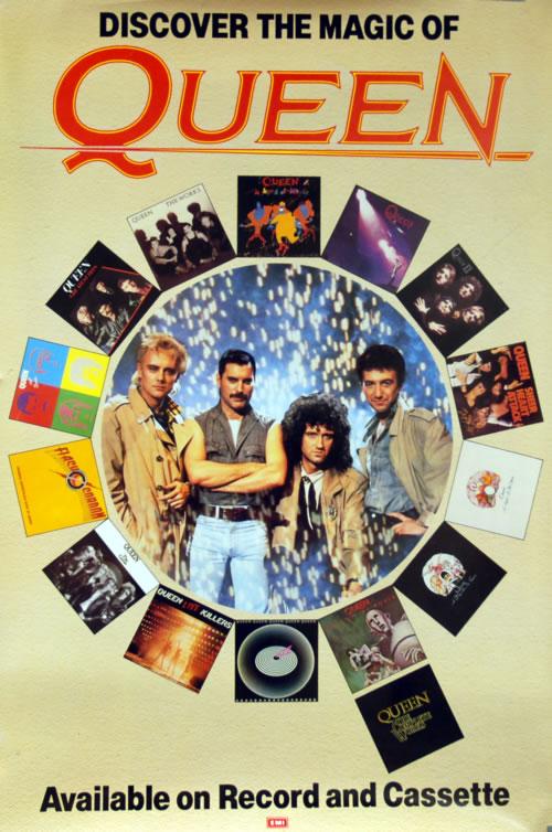 Queen Discover The Magic Of Queen poster UK QUEPODI618108