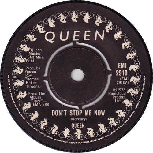 "Queen Don't Stop Me Now 7"" vinyl single (7 inch record) UK QUE07DO50292"