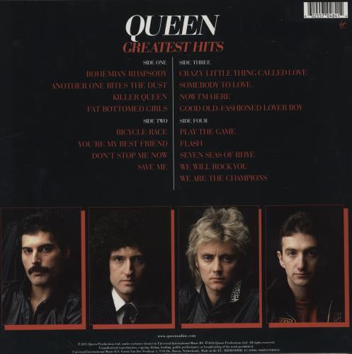 Queen Greatest Hits - 180gm 2-LP vinyl record set (Double Album) UK QUE2LGR752350