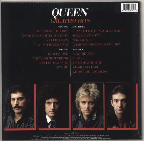 Queen Greatest Hits - Red Vinyl - Sealed 2-LP vinyl record set (Double Album) UK QUE2LGR726460