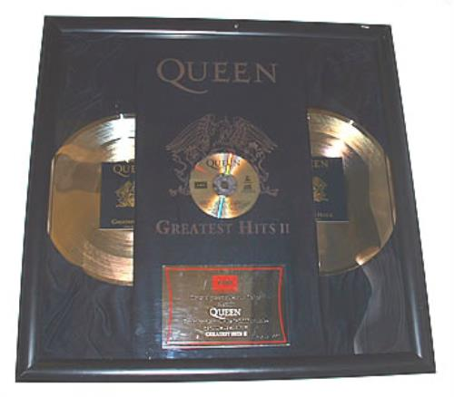 Queen Greatest Hits II award disc Mexican QUEAWGR322180