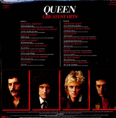 Queen Greatest Hits Mexican Vinyl Lp Album Lp Record