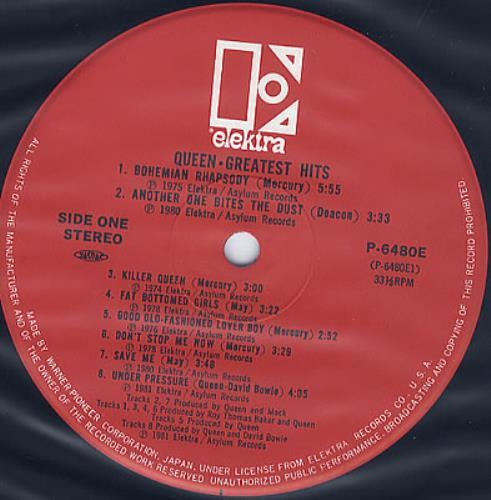 Queen Greatest Hits Japanese Vinyl Lp Album Lp Record