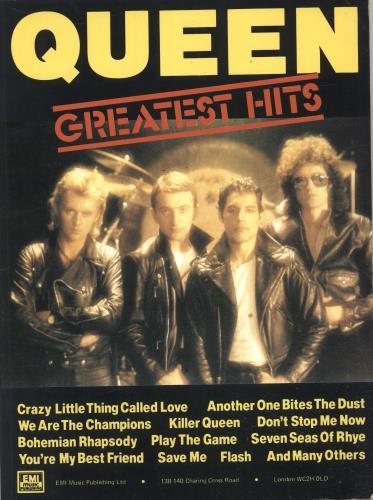 Queen Greatest Hits UK sheet music