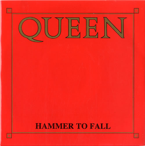 """Queen Hammer To Fall - Injection Moulded 7"""" vinyl single (7 inch record) UK QUE07HA591799"""