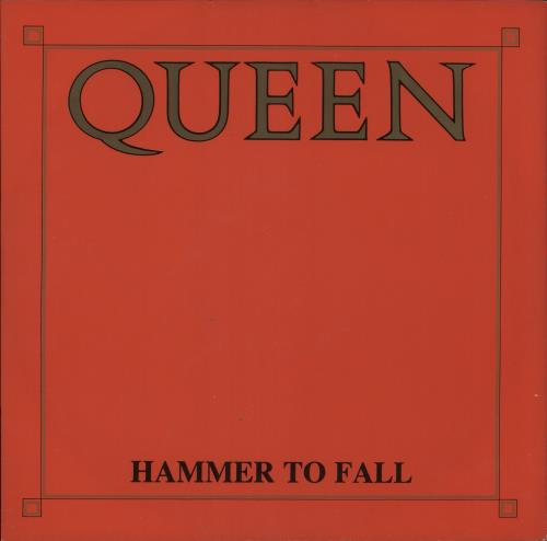 """Queen Hammer To Fall - Red Sleeve - Factory Sample 12"""" vinyl single (12 inch record / Maxi-single) UK QUE12HA739754"""