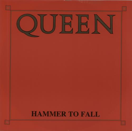 """Queen Hammer To Fall - Red Sleeve 12"""" vinyl single (12 inch record / Maxi-single) UK QUE12HA06612"""