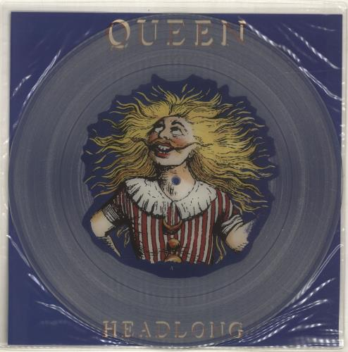 "Queen Headlong + insert 12"" vinyl picture disc 12inch picture disc record UK QUE2PHE696997"