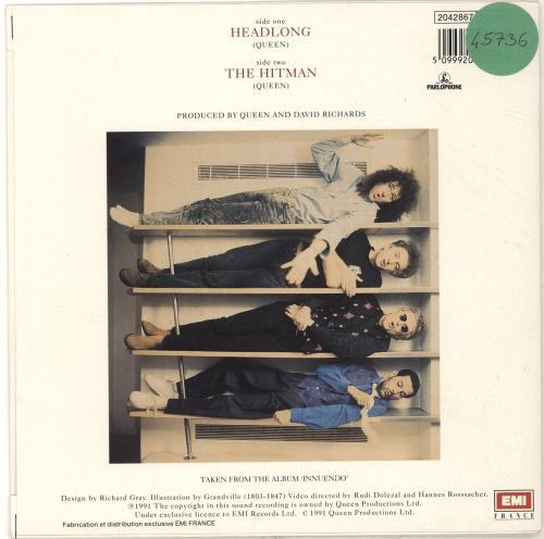 "Queen Headlong 7"" vinyl single (7 inch record) French QUE07HE468039"