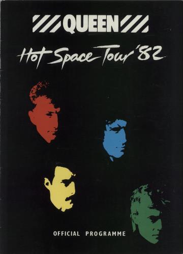 Queen Hot Space Tour '82 tour programme UK QUETRHO214548