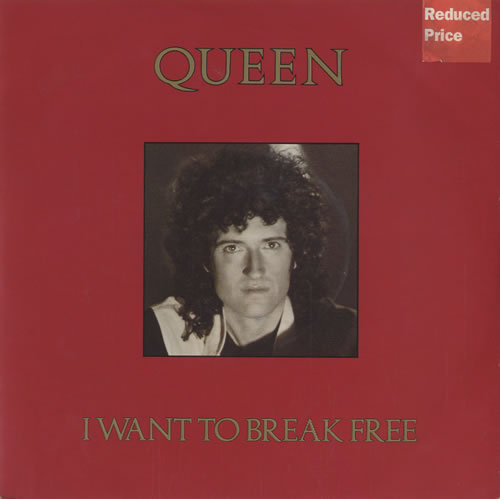 """Queen I Want To Break Free - Brian May picture sleeve 7"""" vinyl single (7 inch record) UK QUE07IW12003"""