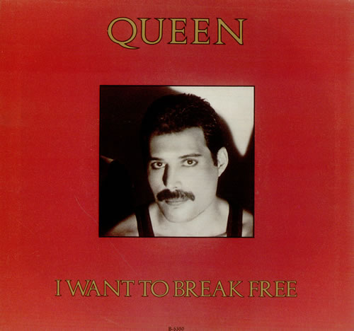 """Queen I Want To Break Free - Freddie P/s 7"""" vinyl single (7 inch record) Canadian QUE07IW69586"""