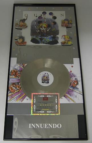 Queen Innuendo award disc Mexican QUEAWIN363289