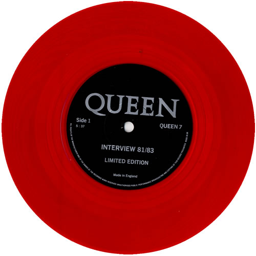 Queen Interview 81/83 - Red UK 7