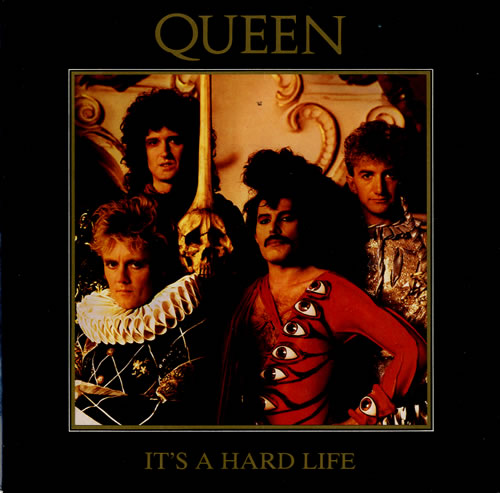 "Queen It's A Hard Life - Injection Moulded 7"" vinyl single (7 inch record) UK QUE07IT585662"