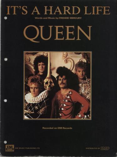 Queen It's A Hard Life sheet music UK QUESMIT354209
