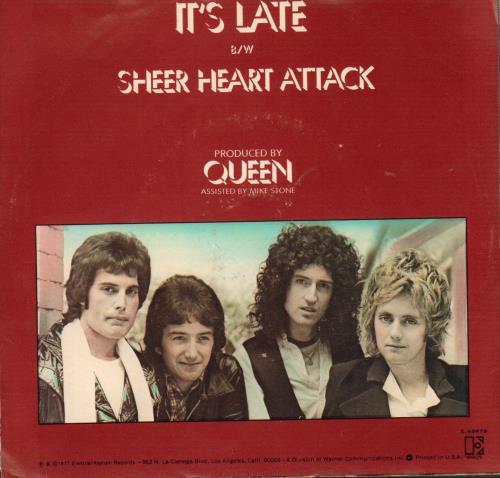 "Queen It's Late  + P/s 7"" vinyl single (7 inch record) US QUE07IT54479"