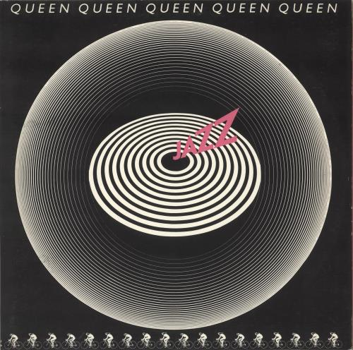 Queen Jazz + Attached Poster vinyl LP album (LP record) UK QUELPJA673556