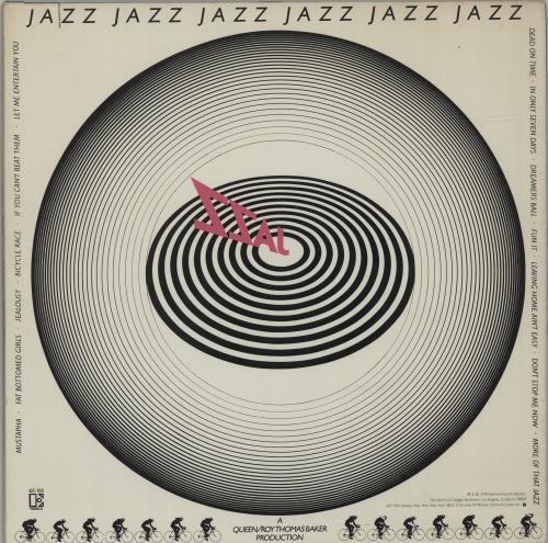 Queen Jazz + Poster UK vinyl LP album (LP record) (576668)