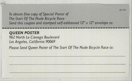 Queen Jazz + Voucher For Poster vinyl LP album (LP record) US QUELPJA556682