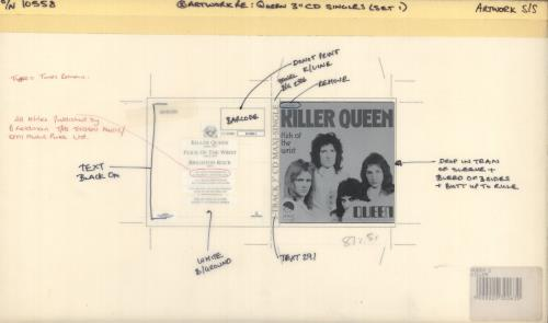 Queen Killer Queen artwork UK QUEARKI719176