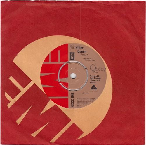 """Queen Killer Queen 7"""" vinyl single (7 inch record) UK QUE07KI76766"""