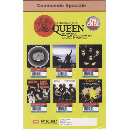 Queen La Discographie De Queen handbill French QUEHBLA449409