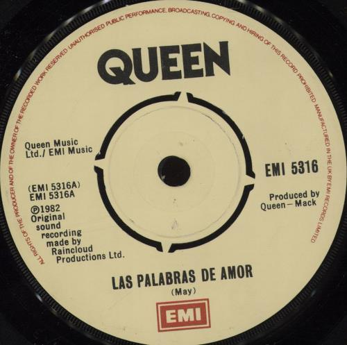 "Queen Las Palabras de Amor - 4pr - P/S 7"" vinyl single (7 inch record) UK QUE07LA672576"